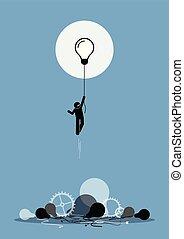 innovator, creato, uno, nuovo, lavorativo, idea, quello, è,...