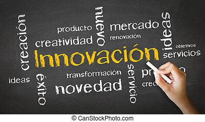 innovazione, illustrazione gesso, (spanish)