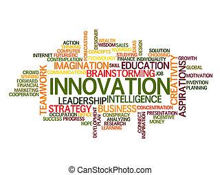 innovazione, parola, nuvola, concetto