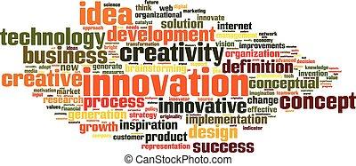 innowacja, słowo, chmura