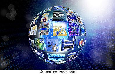 innowacyjny, internetowa technologia