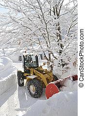 Snow removal vehicle - INNSBRUCK; AUSTRIA - JAN 8: Snow ...