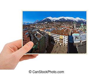 Innsbruck Austria photography in hand