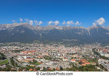 Innsbruck city in Austria in Autumn