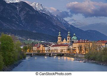 Innsbruck. - Image of Innsbruck, Austria during twilight ...