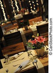 inomhus, lyxvara, nymodig, restaurang