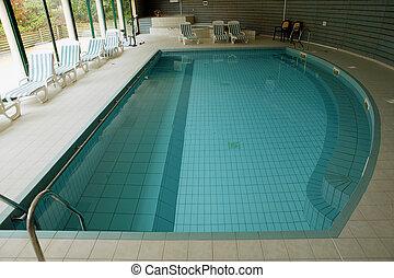 inomhus, slå samman, simning