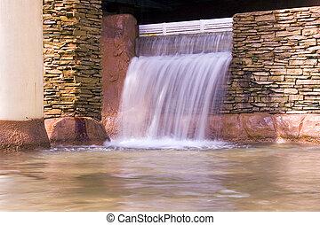 inomhus, vattenfall