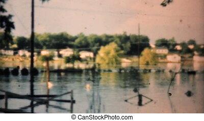 inondé, 1948, voisinage