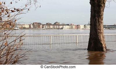 inondé, cologne, rue