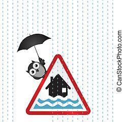 inondation, avertissement