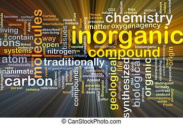 inorganic, gloeiend, concept, achtergrond