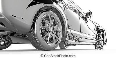 inossidabile, modellare automobile