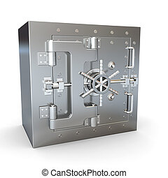 inossidabile, sicuro, vault., banca, steel.