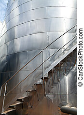 inossidabile, silo, closeup
