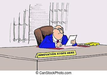 inovação, aqui, paradas
