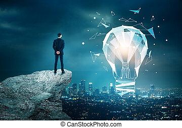 inovação, conceito, tecnologia, idéia
