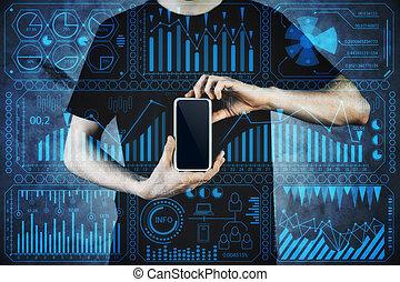 inovação, e, tecnologia, conceito
