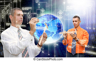 inovační, počítač, technika