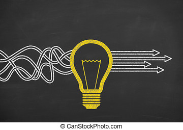 inovační, tabule, pojem, roztok, pojem