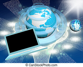 inovador, conexão computador, tecnologia