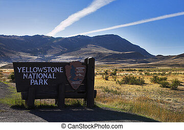 Input in Yellowstone national park