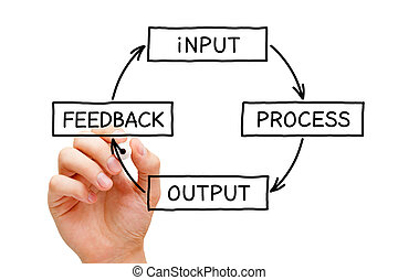 Input Process Output Feedback Diagram Concept