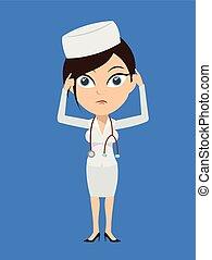 inquiété, infirmière, -