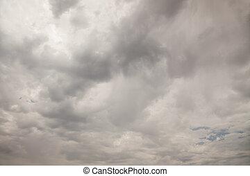 inquiétant, ciel, nuageux, fond