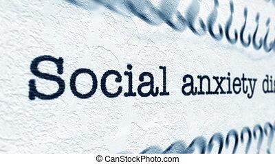 inquiétude, désordre, social