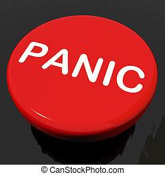 inquiétude, détresse, bouton, panicking, panique, spectacles
