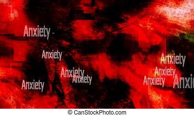 inquiétude, fond, boucle, sentiments