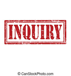 Inquiry-stamp - Grunge rubber stamp with word Inquiry, ...