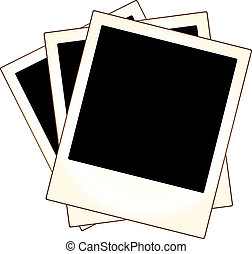 inramar, foto, polaroidkamera