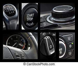 inre, bil, collage