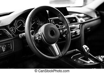 inre, bil, nymodig