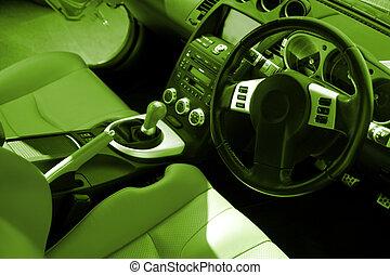 inre, bil, nymodig, sport