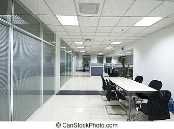 inre, nymodig, kontor