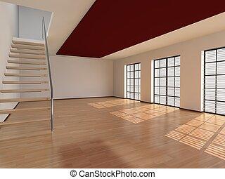 inre, vardagsrum, arkitektur