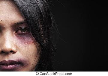 inrikes våld, offer