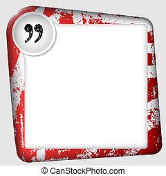 insérer, texte, cadre, marque, vecteur, citation