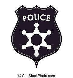 insígnia policial, ícone