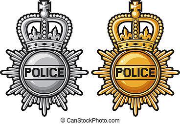 insígnia policial, sinal polícia