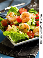 insalata avocado, gamberetto