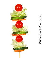 insalata, su, uno, bastone