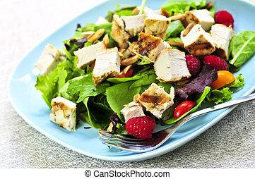 insalata verde, con, pollo cotto