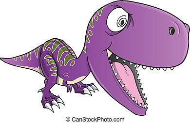 Insane Dinosaur T-Rex Vector