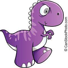 Insane Dinosaur Vector Illustration