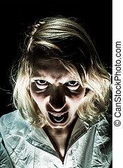 Insane Woman Screaming