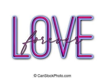 inschrift, liebe, beschriftung, abbildung, hand, kalligraphie